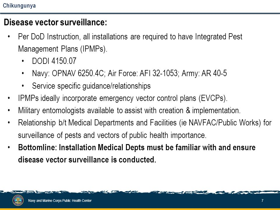 Disease vector surveillance and control:
