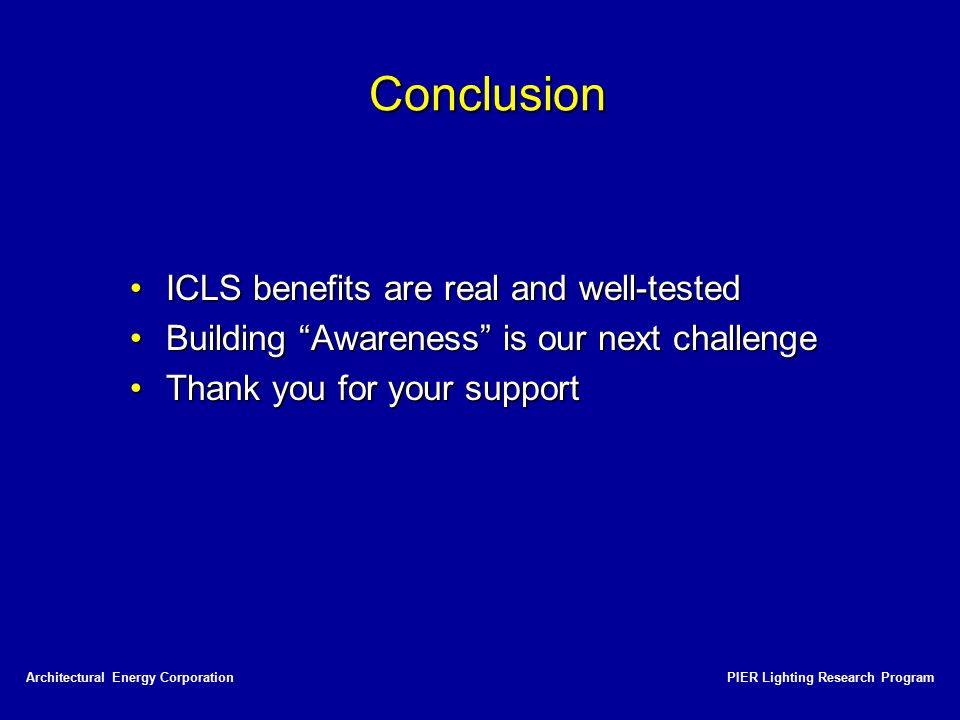 Conclusion ICLS benefits are real and well-tested