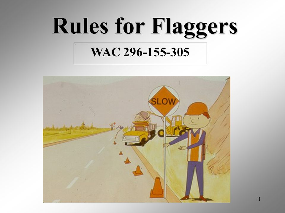 Rules for Flaggers WAC 296-155-305