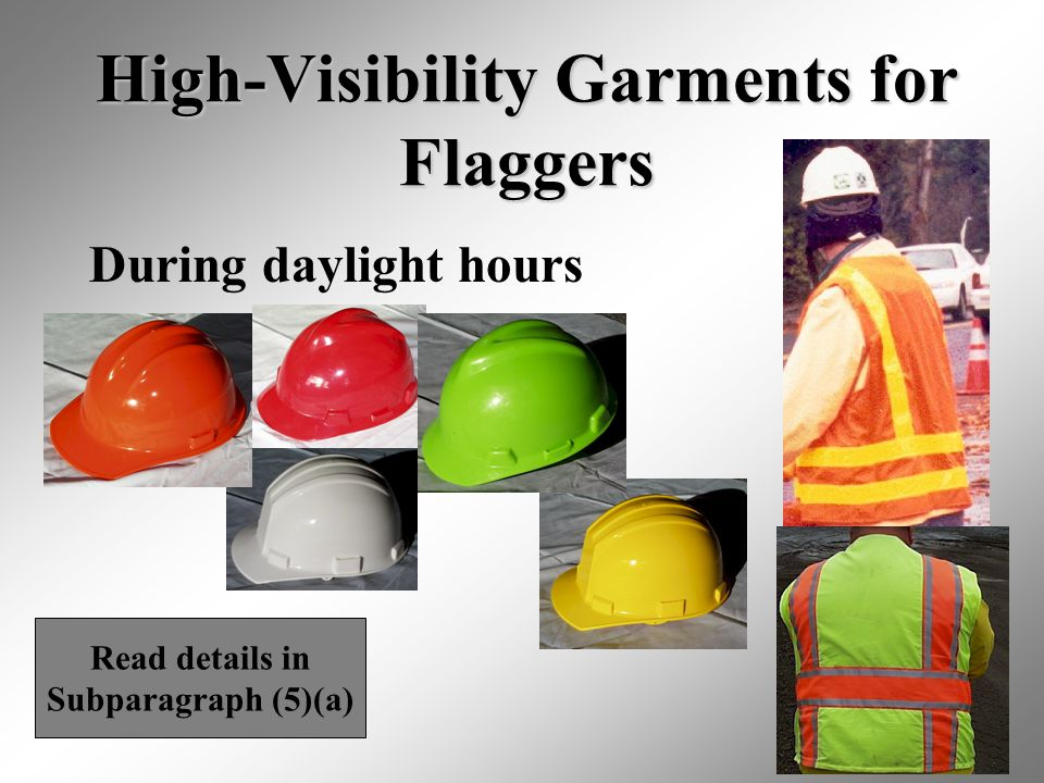 High-Visibility Garments for Flaggers