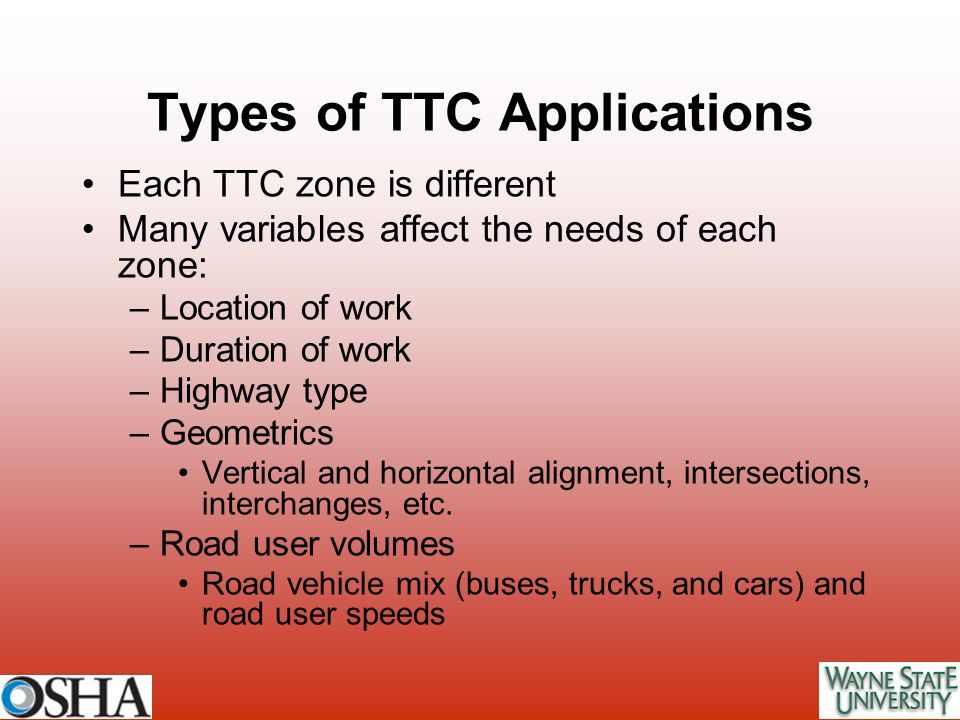 Types of TTC Applications