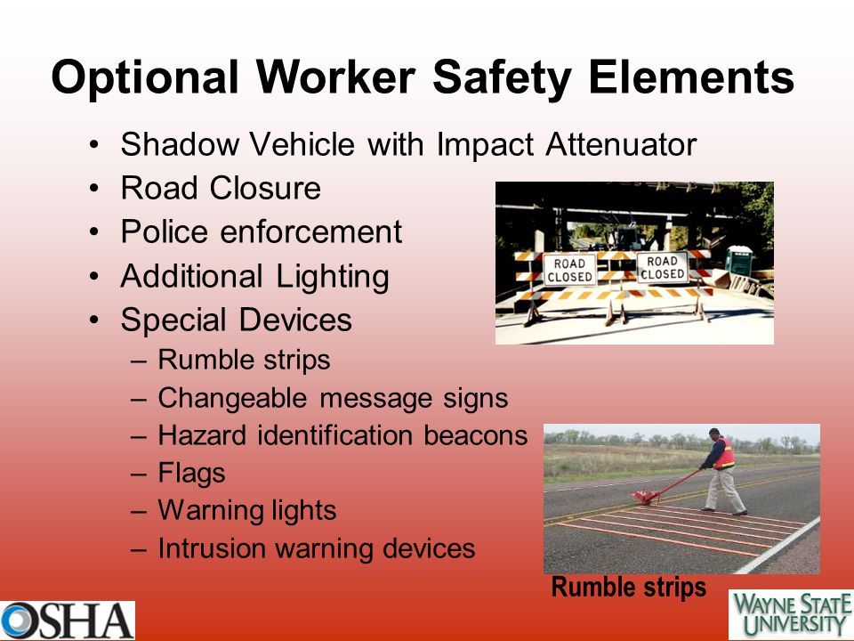 Optional Worker Safety Elements