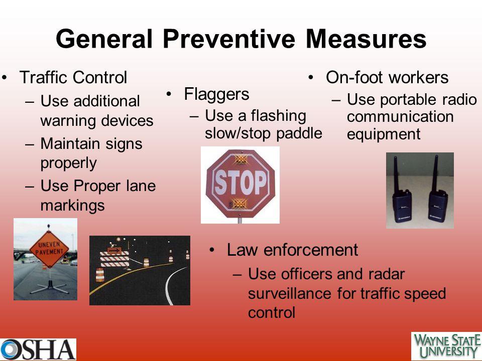General Preventive Measures
