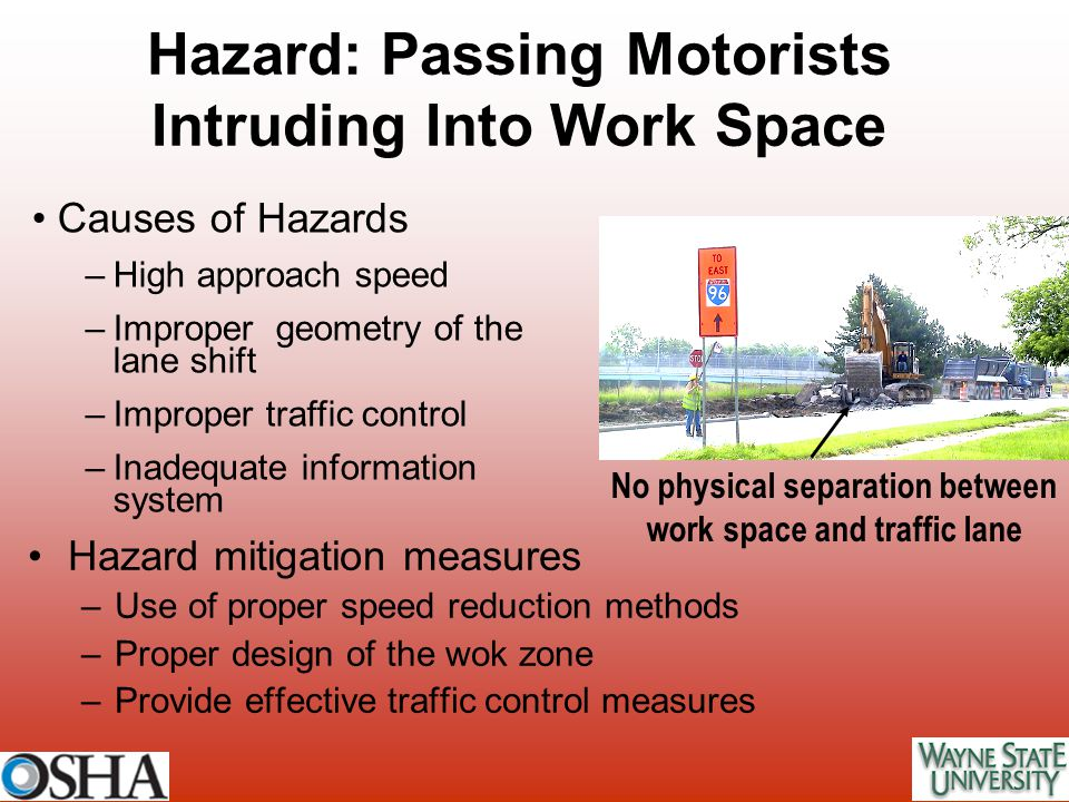 Hazard: Passing Motorists Intruding Into Work Space