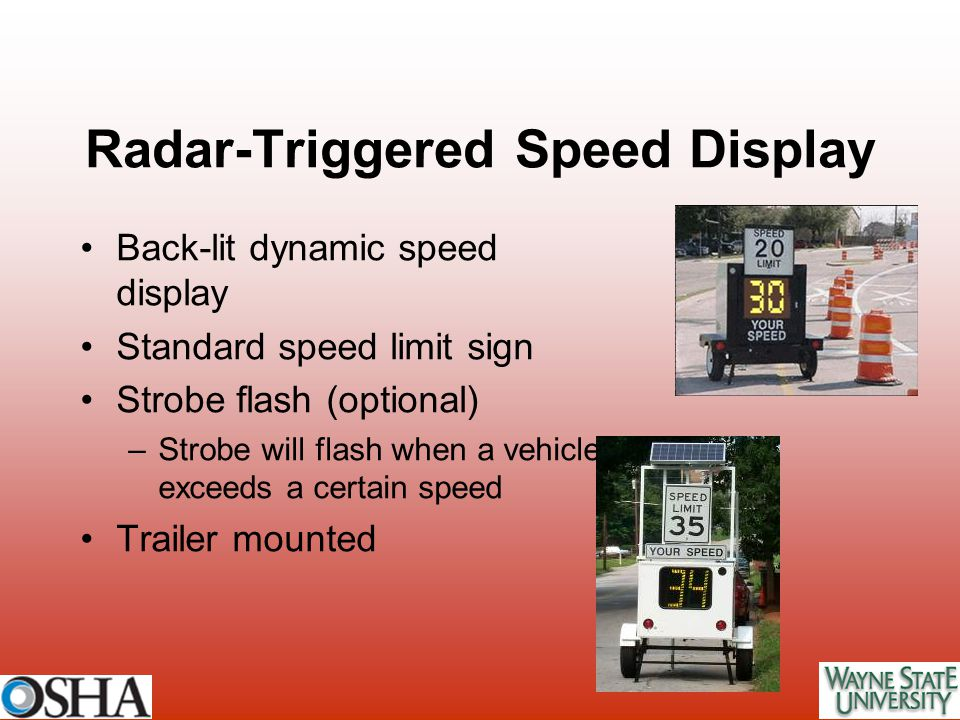 Radar-Triggered Speed Display