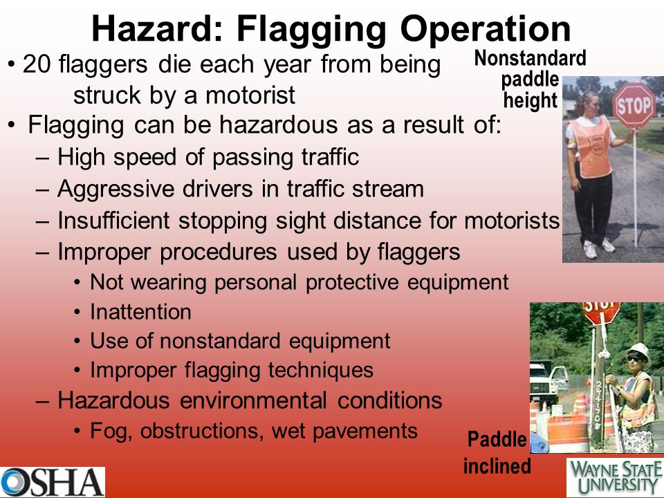 Hazard: Flagging Operation