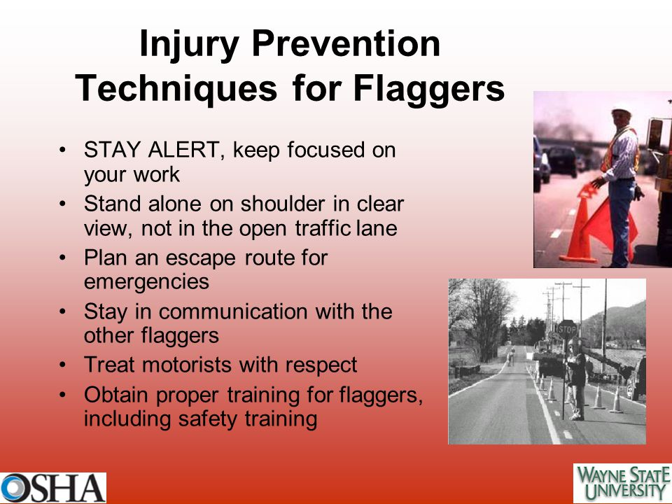 Injury Prevention Techniques for Flaggers