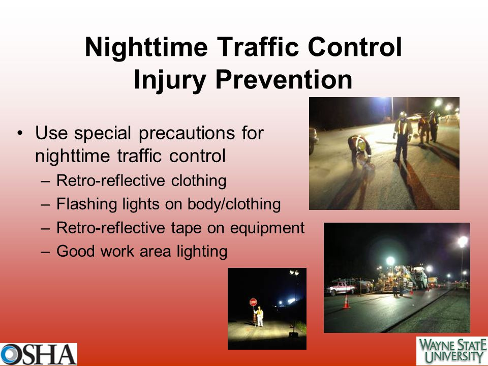 Nighttime Traffic Control Injury Prevention