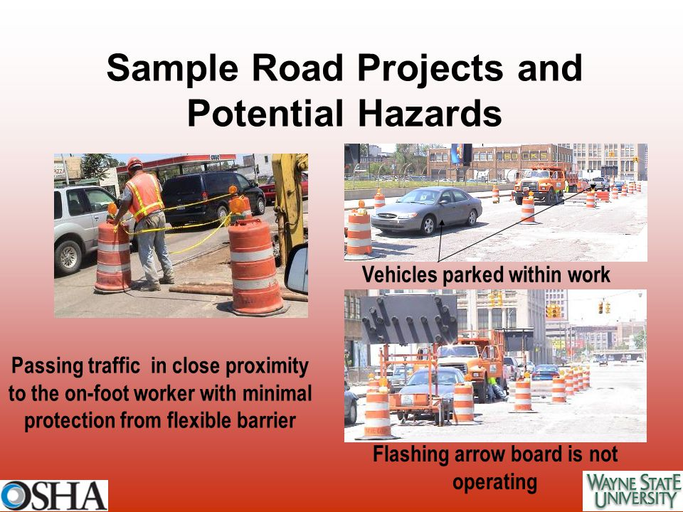 Sample Road Projects and Potential Hazards