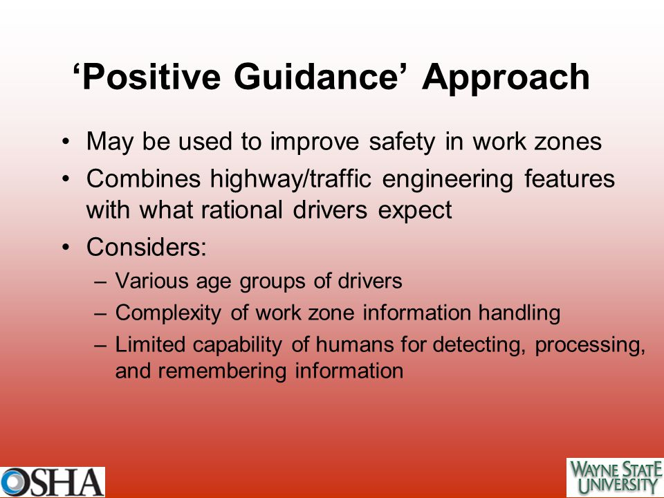 'Positive Guidance' Approach