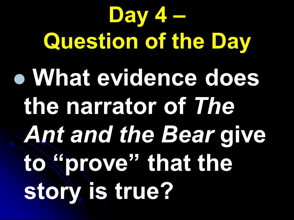 Day 4 – Question of the Day