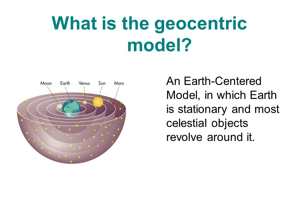 What is the geocentric model