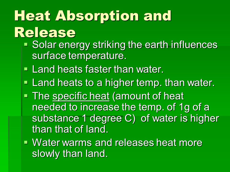 Heat Absorption and Release