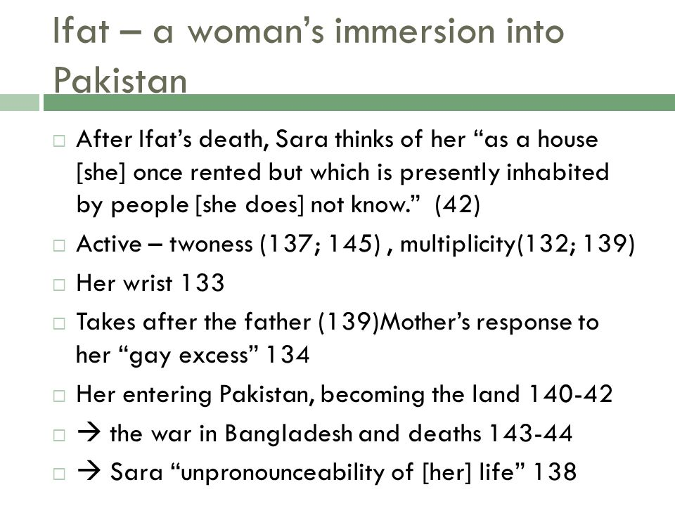 Ifat – a woman's immersion into Pakistan