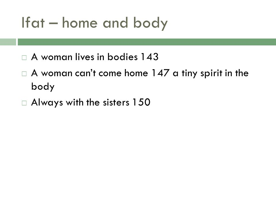 Ifat – home and body A woman lives in bodies 143