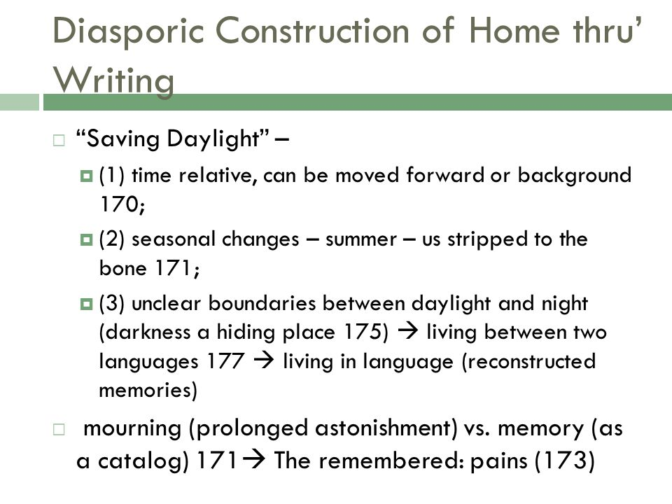 Diasporic Construction of Home thru' Writing