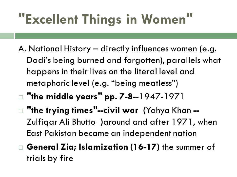 Excellent Things in Women
