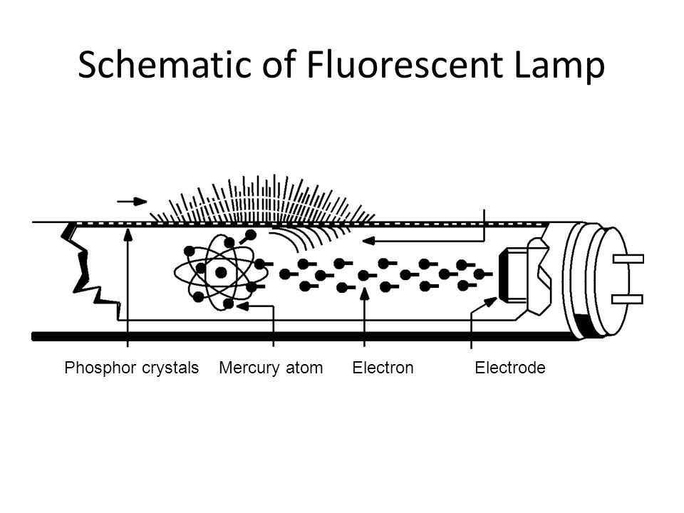 Schematic of Fluorescent Lamp