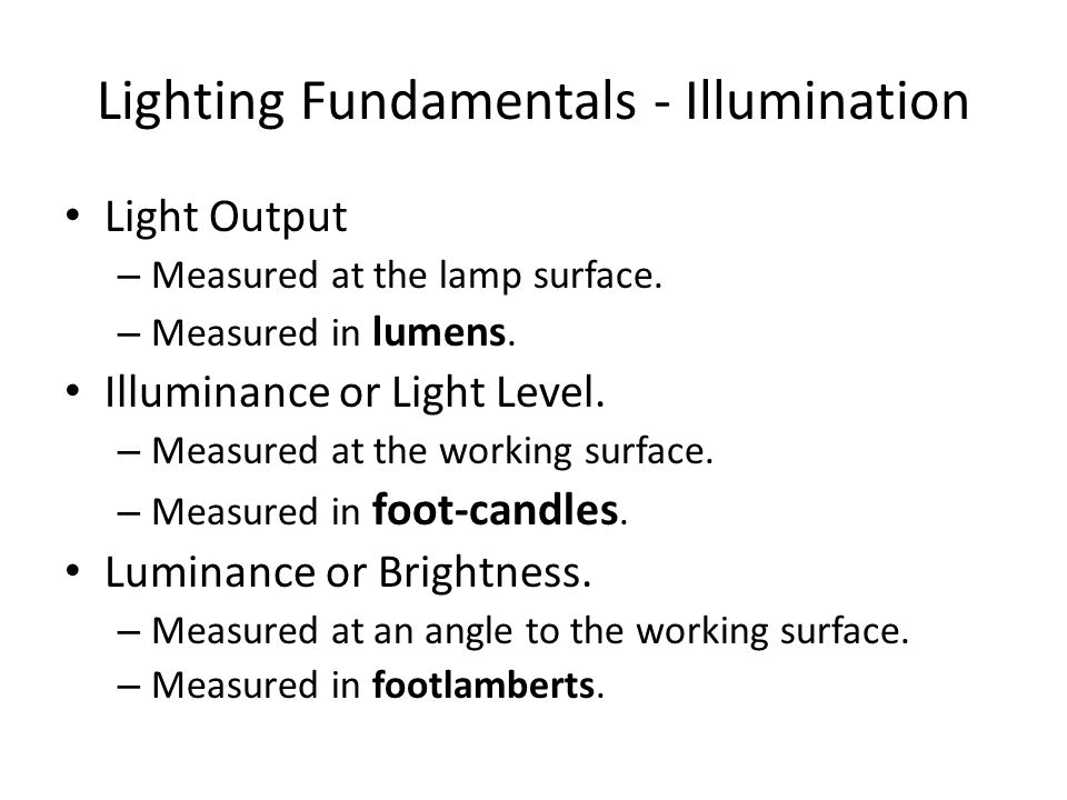Lighting Fundamentals - Illumination