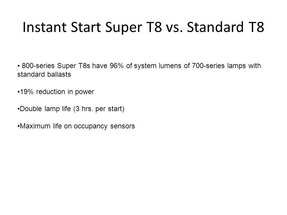 Instant Start Super T8 vs. Standard T8