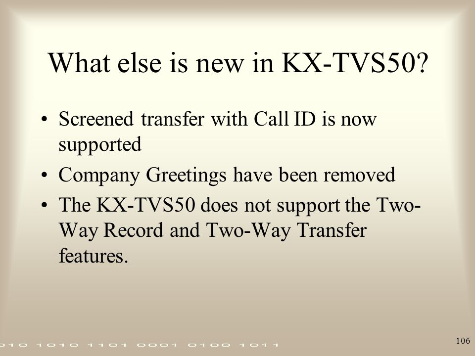 What else is new in KX-TVS50