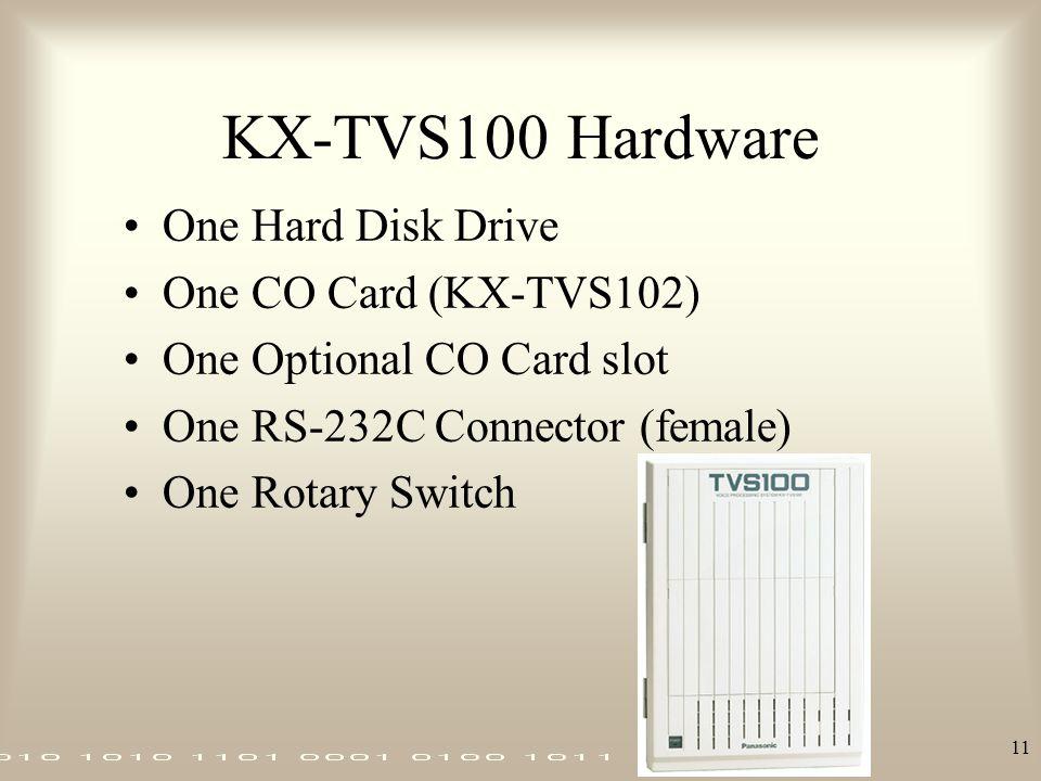 KX-TVS100 Hardware One Hard Disk Drive One CO Card (KX-TVS102)
