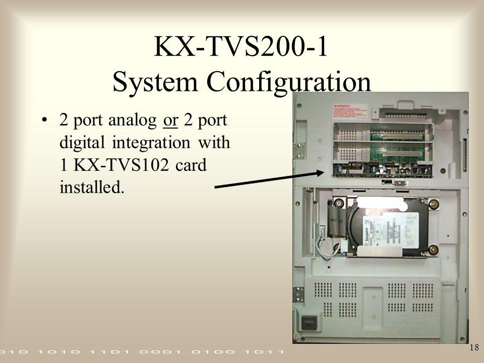 KX-TVS200-1 System Configuration