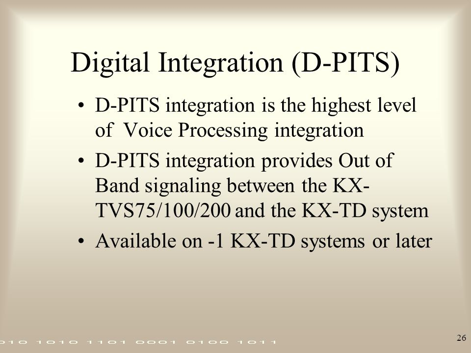 Digital Integration (D-PITS)