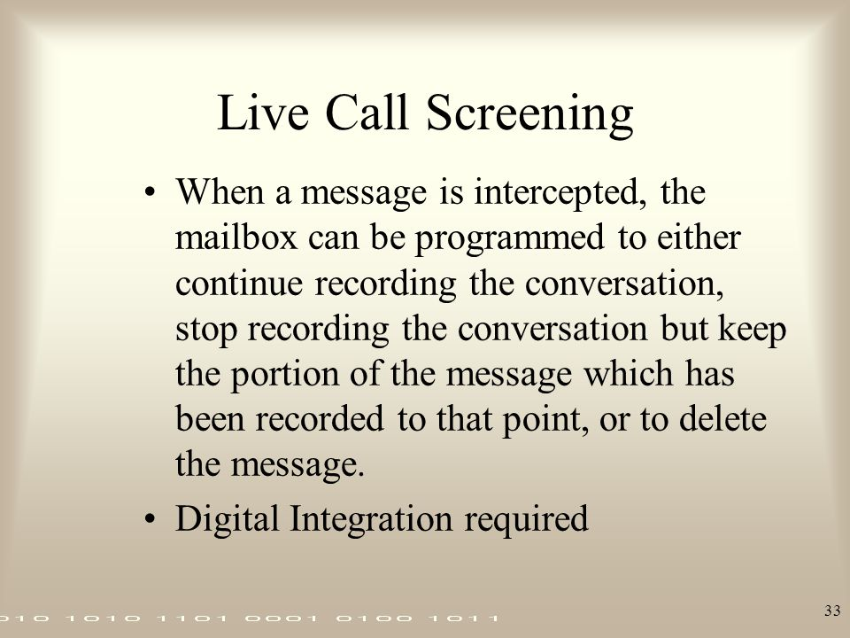 Live Call Screening