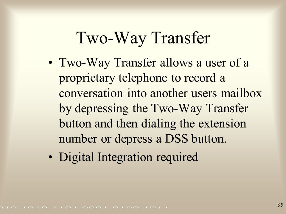 Two-Way Transfer
