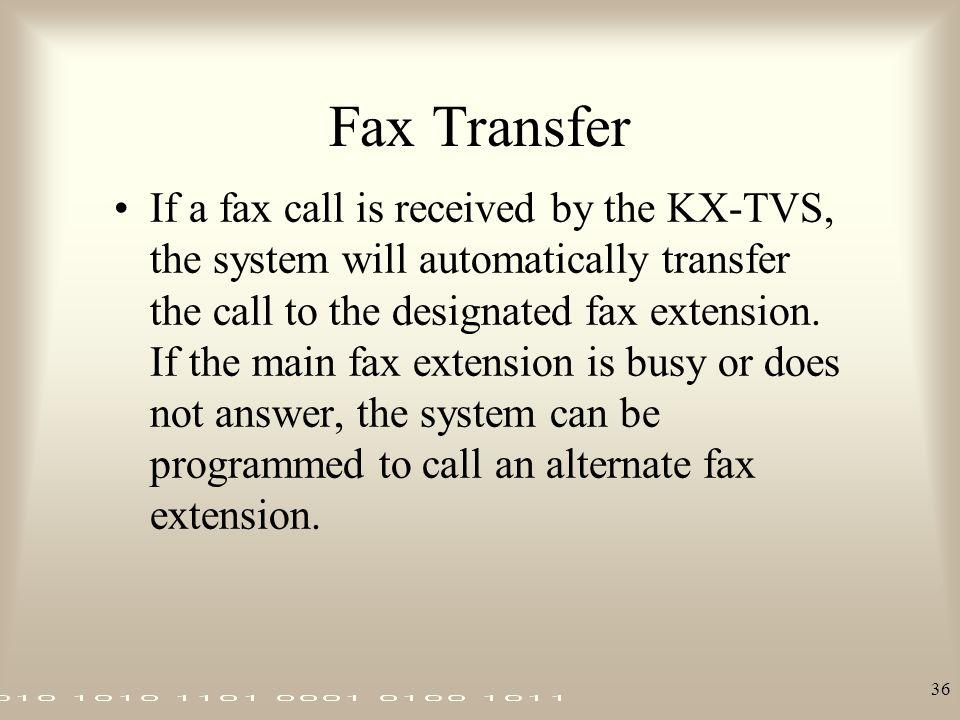 Fax Transfer