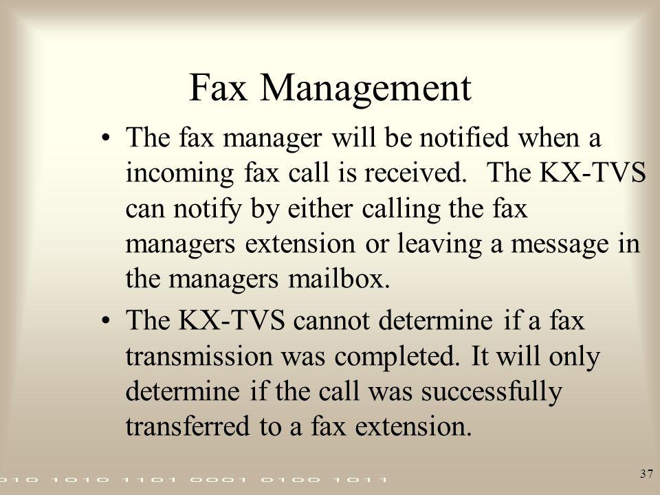 Fax Management