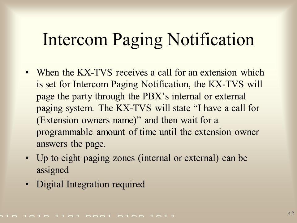 Intercom Paging Notification
