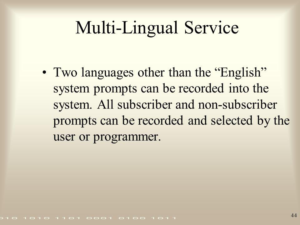 Multi-Lingual Service