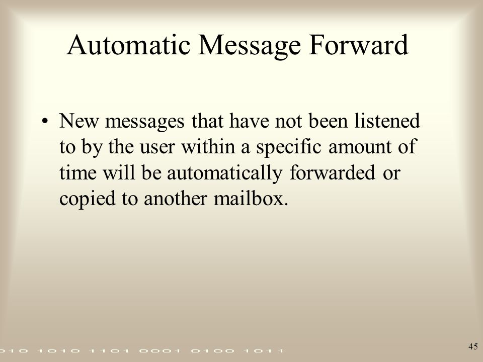 Automatic Message Forward