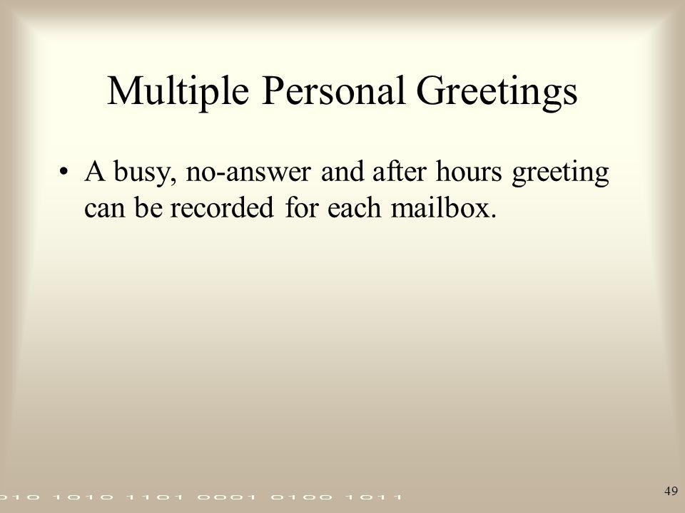 Multiple Personal Greetings