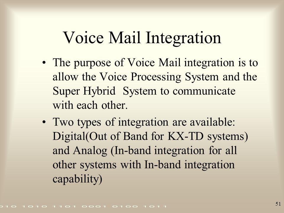Voice Mail Integration