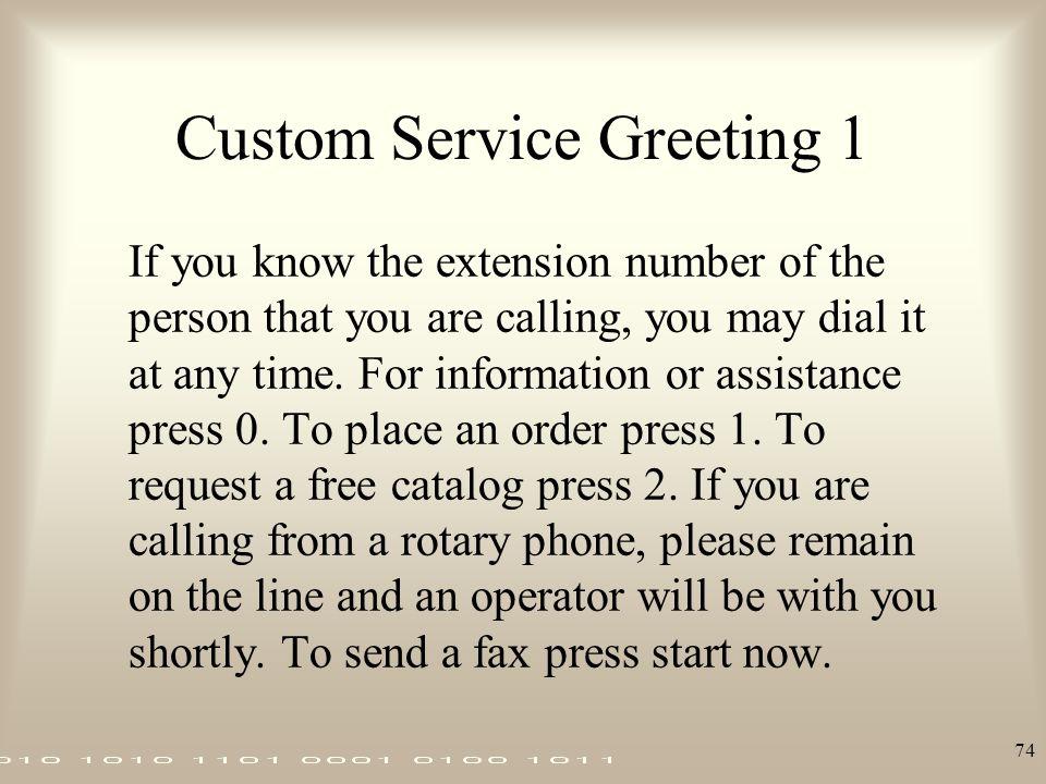 Custom Service Greeting 1