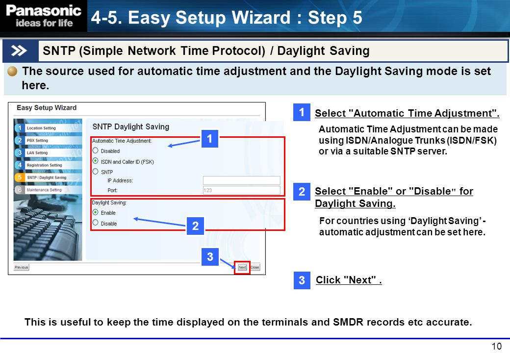 4-5. Easy Setup Wizard : Step 5