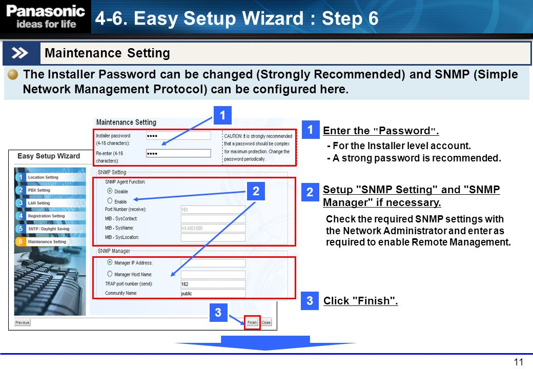 4-6. Easy Setup Wizard : Step 6