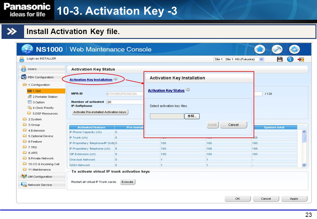 10-3. Activation Key -3 Install Activation Key file. 23