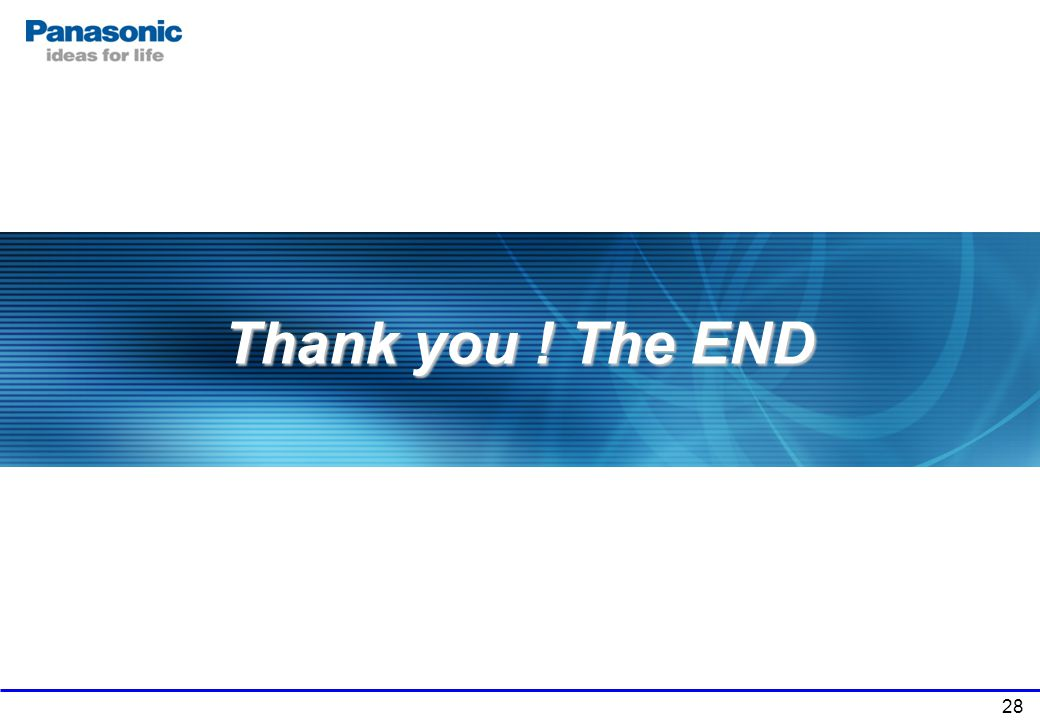 Thank you ! The END The End of documents.