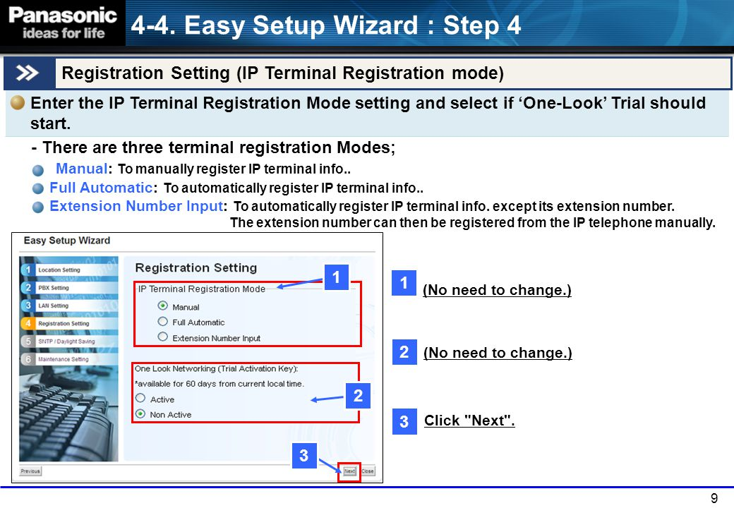 4-4. Easy Setup Wizard : Step 4