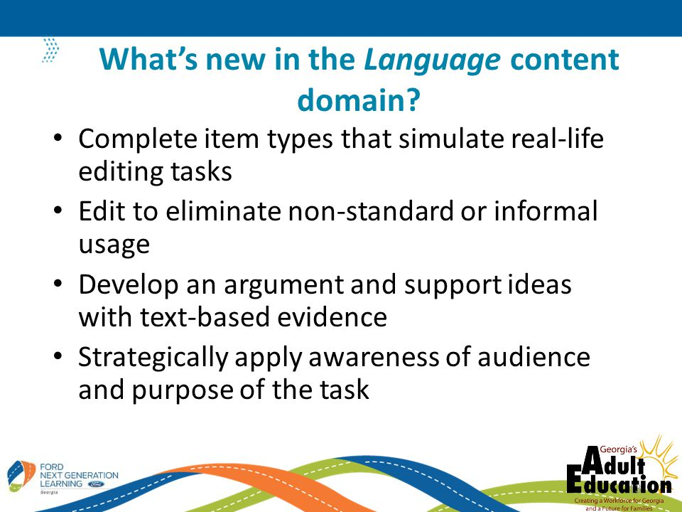 What's new in the Language content domain
