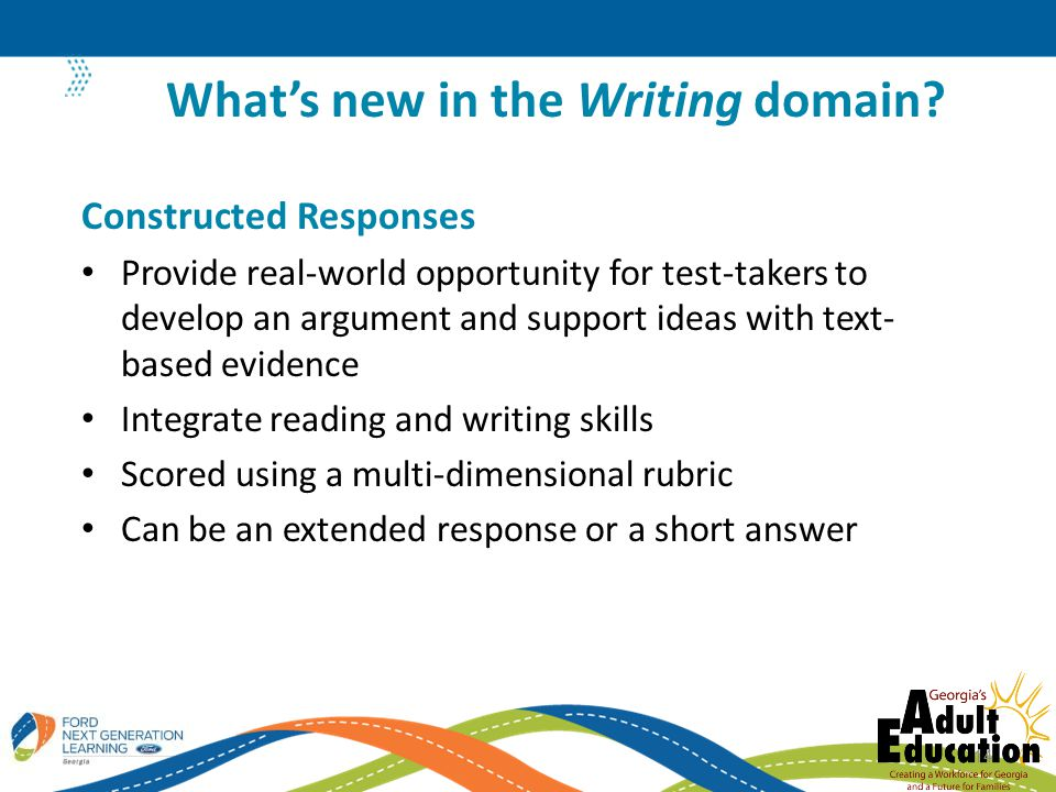 What's new in the Writing domain