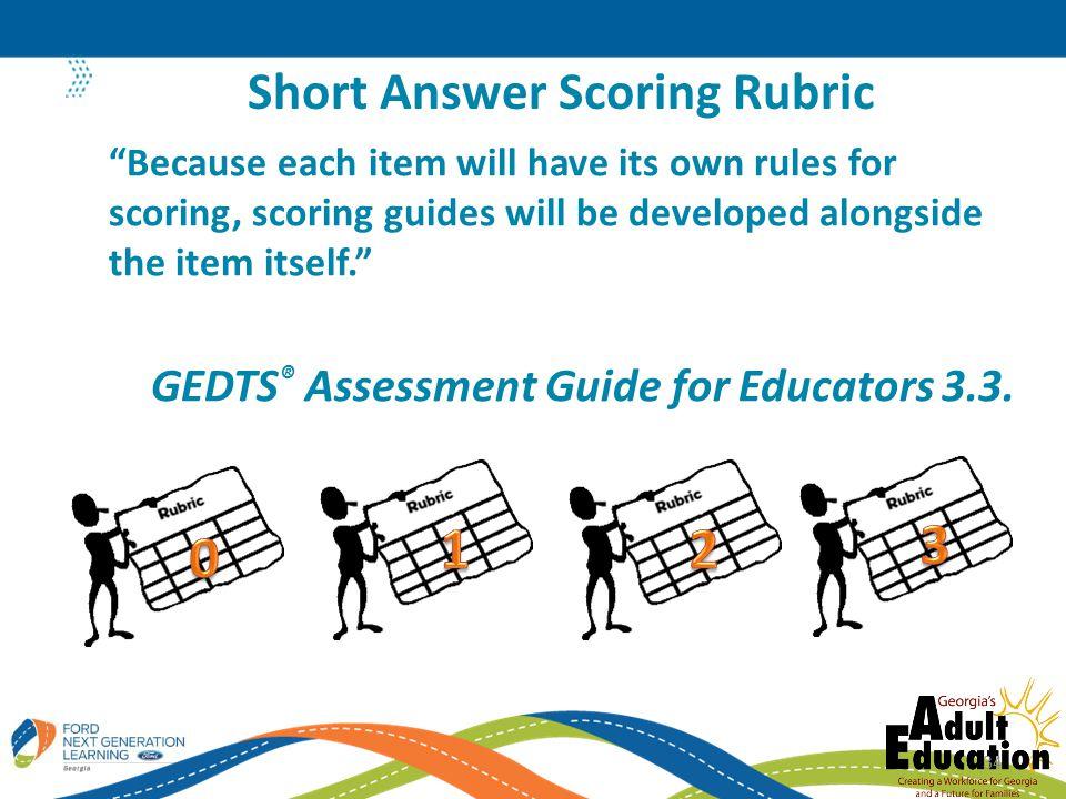 Short Answer Scoring Rubric
