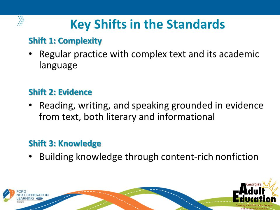 Key Shifts in the Standards