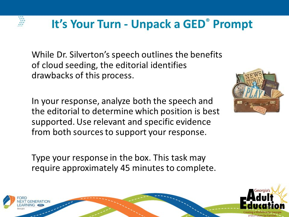It's Your Turn - Unpack a GED® Prompt
