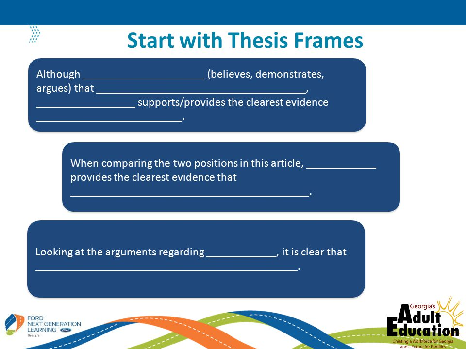 Start with Thesis Frames