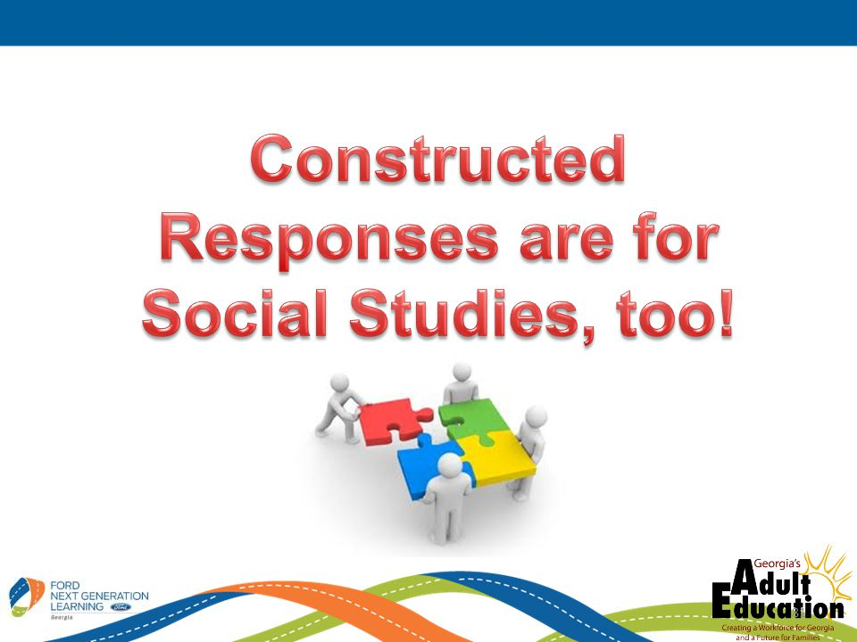 Constructed Responses are for Social Studies, too!